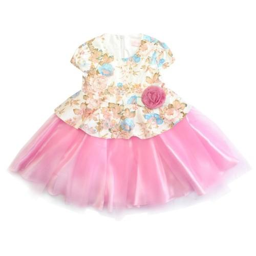 Платье Bon&Bon с розовой юбкой шопенка 471.2, р.98