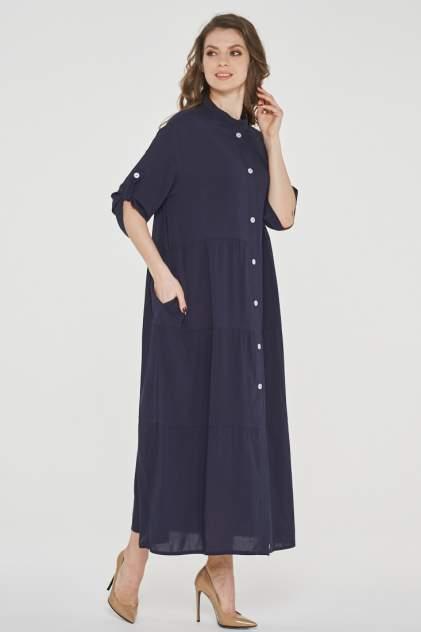 Платье женское VAY 191-3514 синее 44 RU