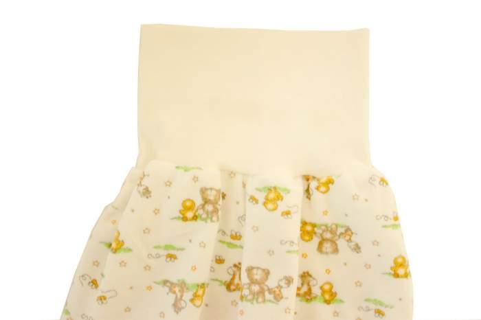 Ползунки детские Осьминожка велюр на широком отложном поясе цв. бежевый р.56