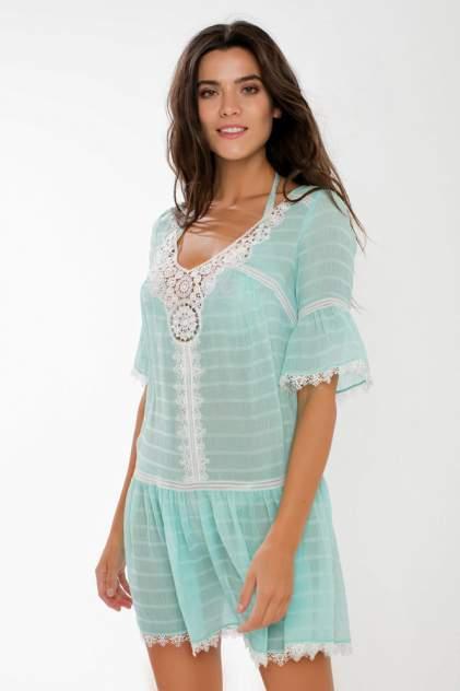 Пляжная туника женская Laete 60287-2 голубая M
