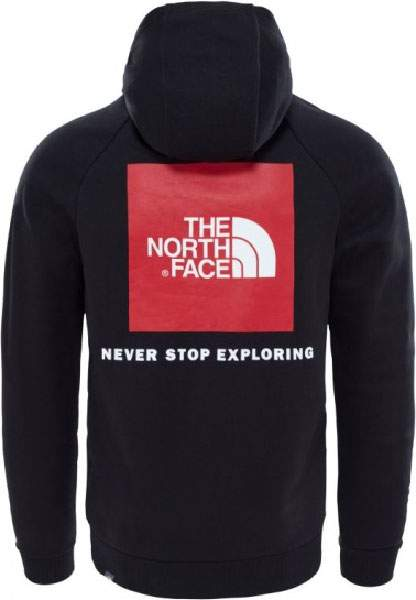 Толстовка мужская The North Face Raglan Red Box Hoody, черный