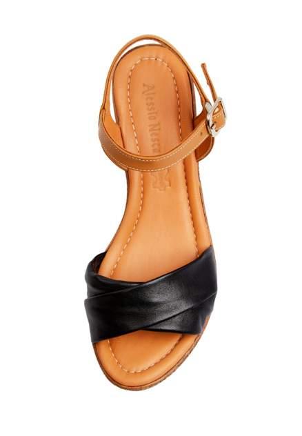 Босоножки женские Alessio Nesca 710018168 черные/коричневые 36 RU