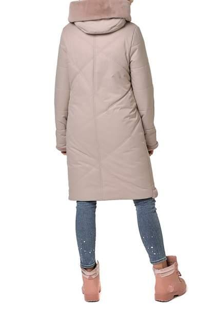 Пуховик-пальто женский DizzyWay 19424 бежевый 42 RU