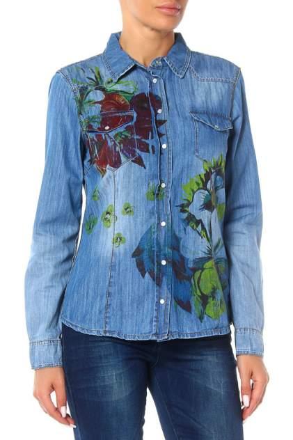 Рубашка женская Marc Aurel 91725/6305/1000 синяя 36 DE