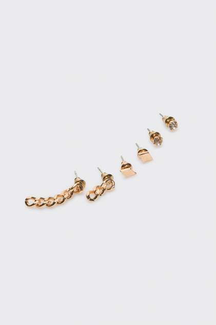 Набор из 3 пар серег женский Concept Club 10206220188 золотистый