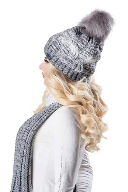 Комплект (шапка+шарф) женский Jagga 1363 серый ONE SIZE