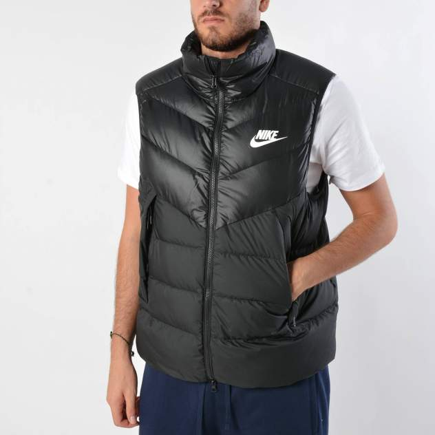 Спортивный жилет Nike Windrunner Down Fill, black/white, XL INT