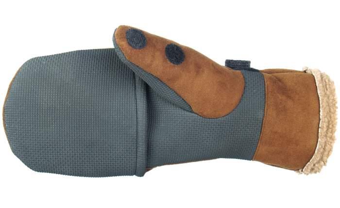 Перчатки-варежки мужские Norfin Aurora, серые/коричневые, L