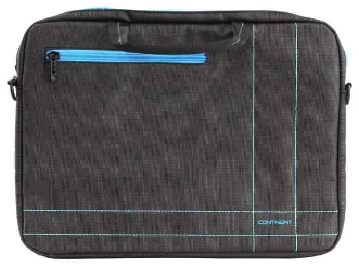 """Сумка для ноутбука 15.6"""" Continent CC-201 серая/синяя"""
