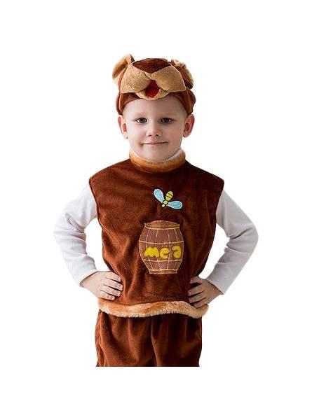 Карнавальный костюм Бока Медведь, цв. коричневый р.104
