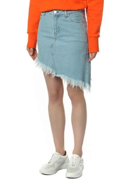 Женская юбка Tommy Jeans DW0DW04251 911 RAW PATCH MID BLUE RIGID, синий