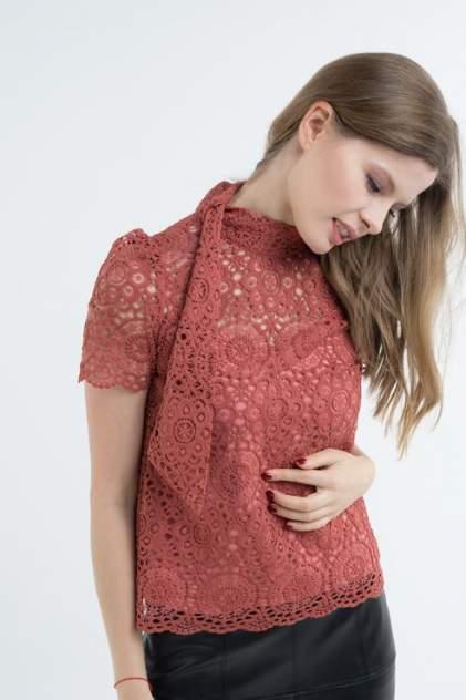 Блуза женская Audrey right 180897-11163 оранжевая 44 RU
