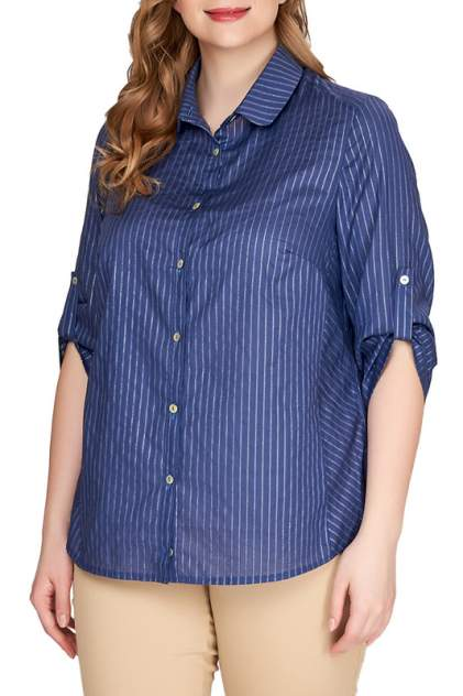 Блуза женская OLSI 1910021_3 синяя 54 RU
