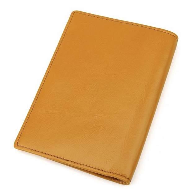 """Обложка для паспорта из натуральной кожи """"Кошелькофф"""" желтая 8437YL"""
