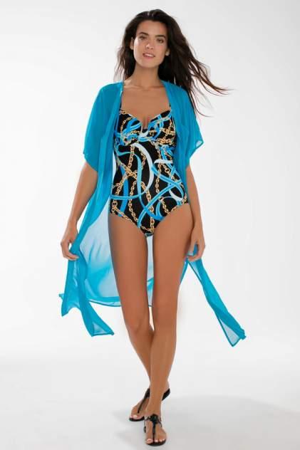 Пляжная туника женская Laete 60382-4 голубая 2XL