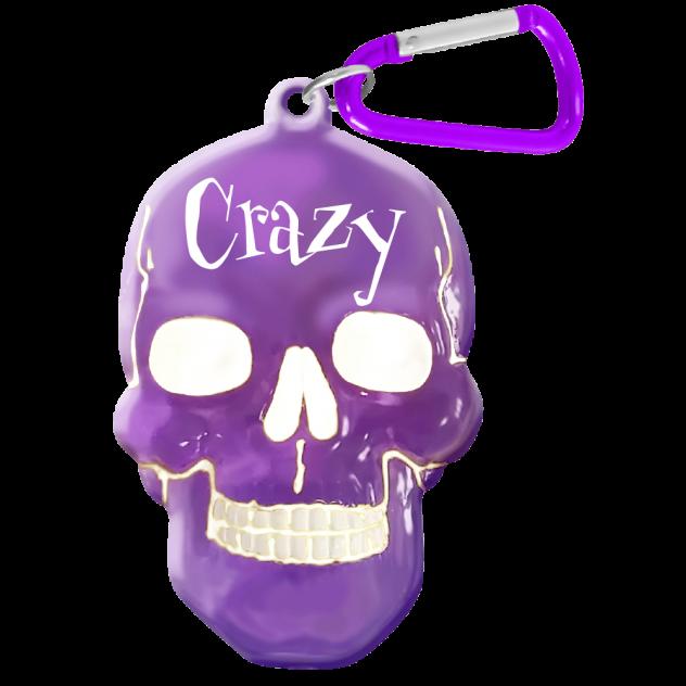 """Брелок для ключей в виде черепа """"Crazy"""""""
