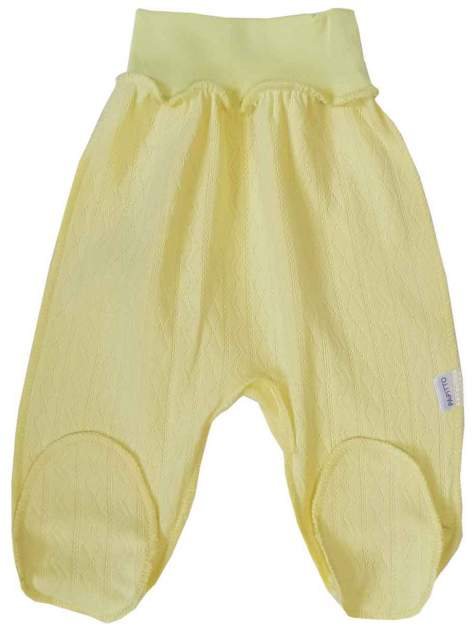 Ползунки на резинке Папитто ажур, цвет желтый р.20-62