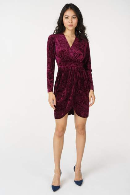 Вечернее платье женское AScool DRESS2801 бордовое 42 RU