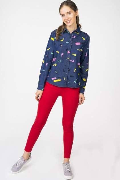 Рубашка женская Marimay 703061 синяя 42 RU