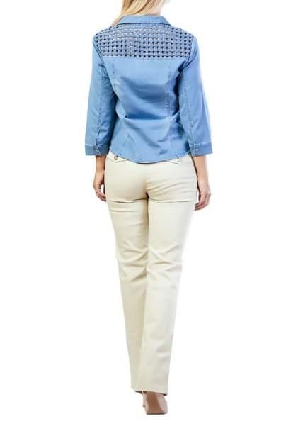 Рубашка женская LAFEI-NIER G331506-F голубая 3XL
