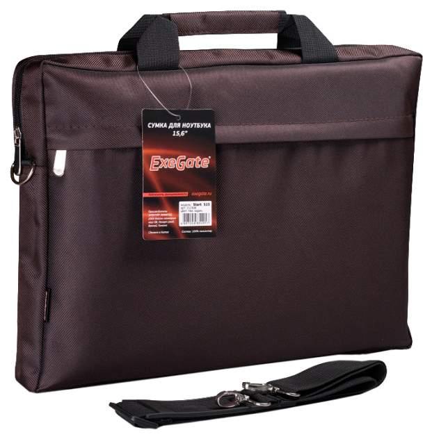 "Сумка для ноутбука 15.6"" ExeGate Start S15 коричневая"