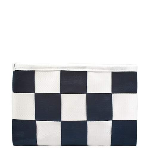 Клатч Kawaii Factory Chess бело-синяя