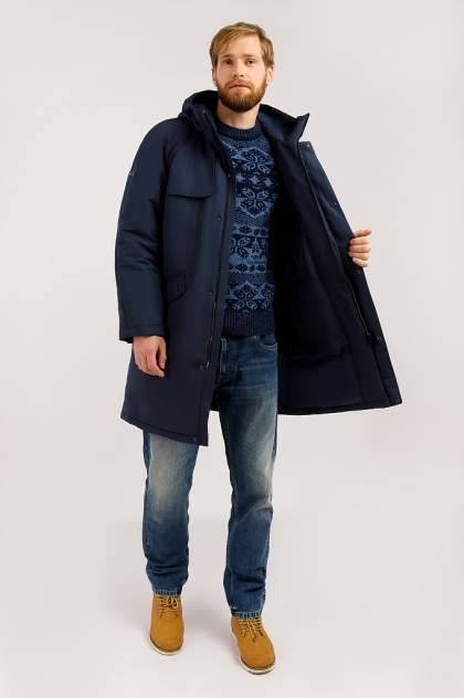 Пальто мужское Finn Flare W19-42003 синее L