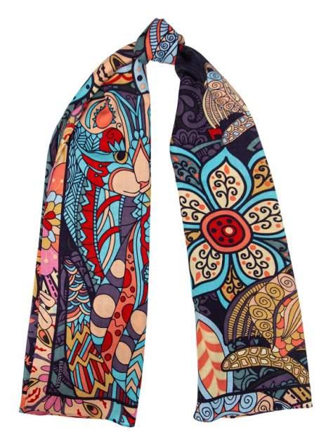 Палантин женский Eleganzza B43-3235 голубой/разноцветный