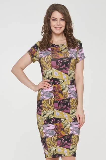 Платье женское VAY 191-3505 розовое 56 RU