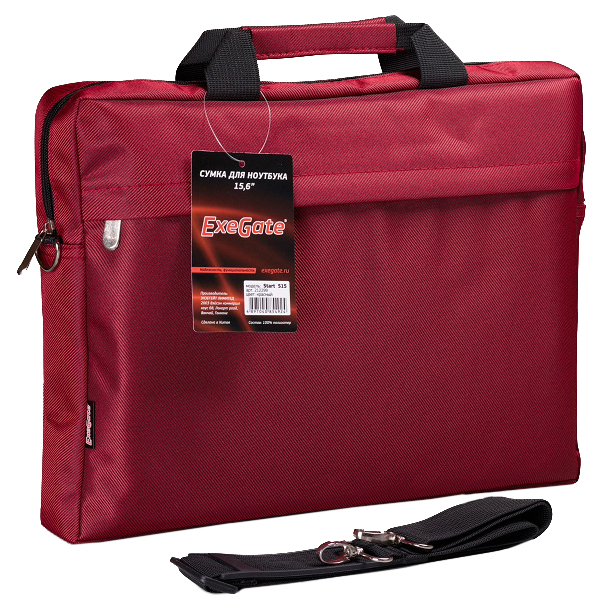 """Сумка для ноутбука 15.6"""" ExeGate Start S15 красная"""