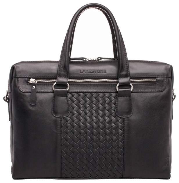 Портфель мужской кожаный Lakestone Bramley черный