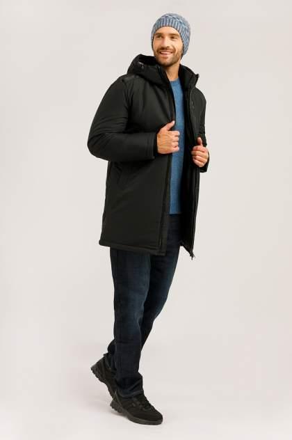 Пальто мужское Finn Flare W19-21002 черное 3XL