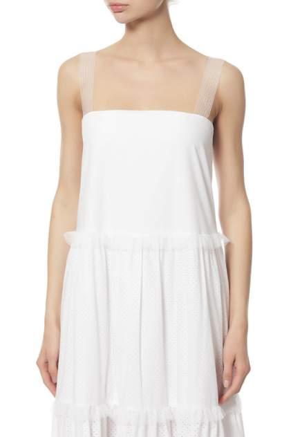 Платье женское Veronique Branquinho VPG417AVG103A010 белое 40 IT