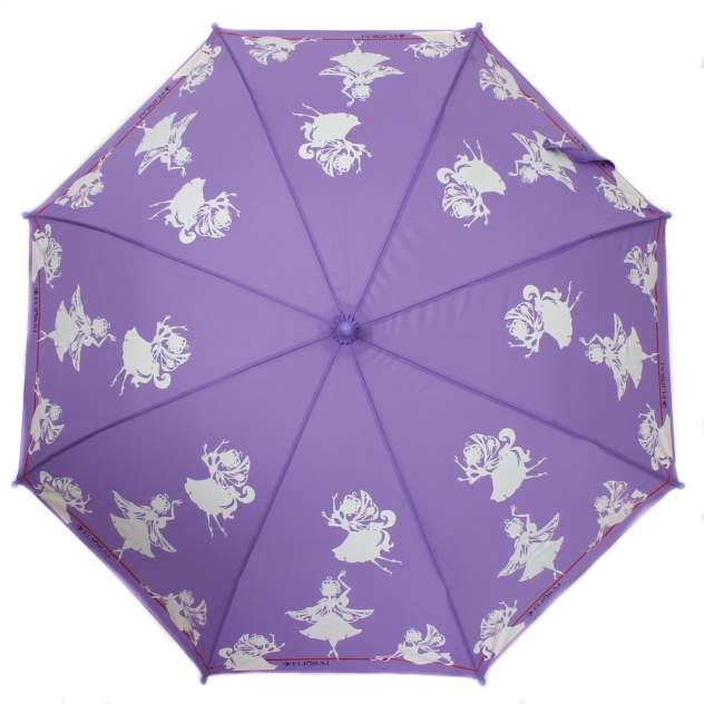 Зонт-трость женский механический Flioraj 051202 FJ фиолетовый