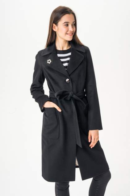 Пальто женское ElectraStyle 3-6040М-289 черное 46 RU