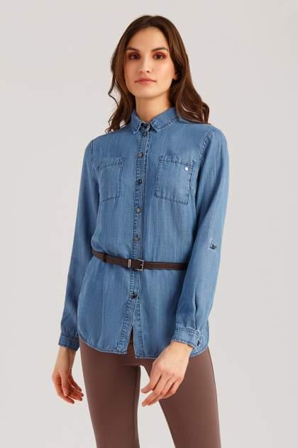 Женская джинсовая рубашка Finn Flare B19-15014, синий