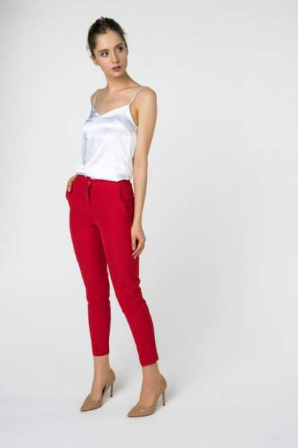 Брюки женские Fashion Confession 4935 красные 42 RU