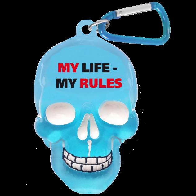 "Брелок для ключей в виде черепа ""My Life, My Rules"""