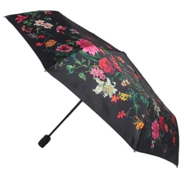 Зонт складной женский полуавтоматический Flioraj 100120 FJ черный