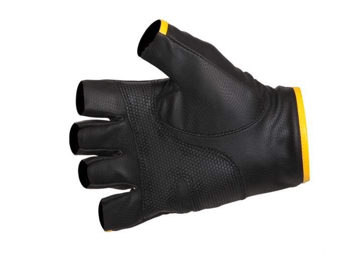 Перчатки мужские Norfin Pro Angler 5 CUT Gloves 3, черные/желтые, L