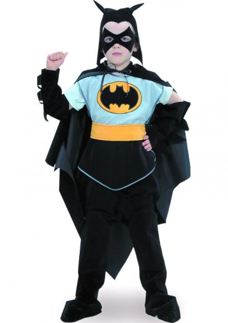 Карнавальный костюм Батик Бэтмен, цв. серый; черный р.122