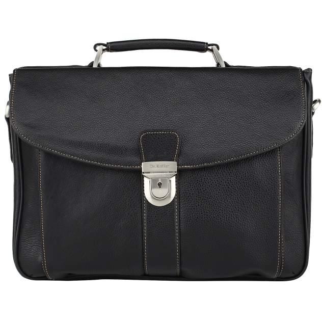 Портфель мужской кожаный Dr. Koffer B500040-02-04 черный