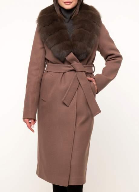 Пальто женское ЗАРЯ МОДЫ М-729-ПЗ коричневое 48 RU