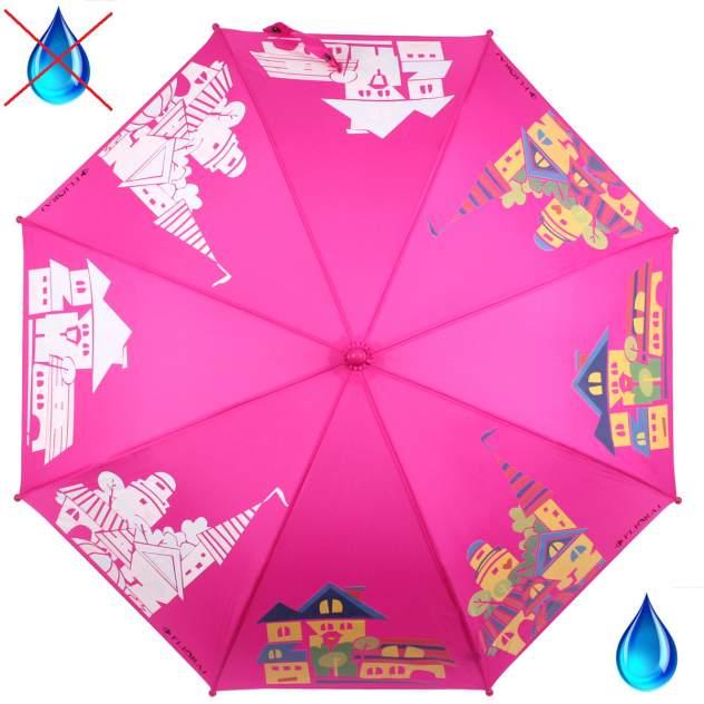 Зонт-трость женский механический Flioraj 051205 FJ розовый