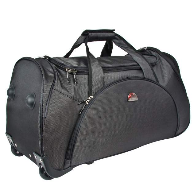 Дорожная сумка Polar 7037.5 черная 33 x 65 x 35