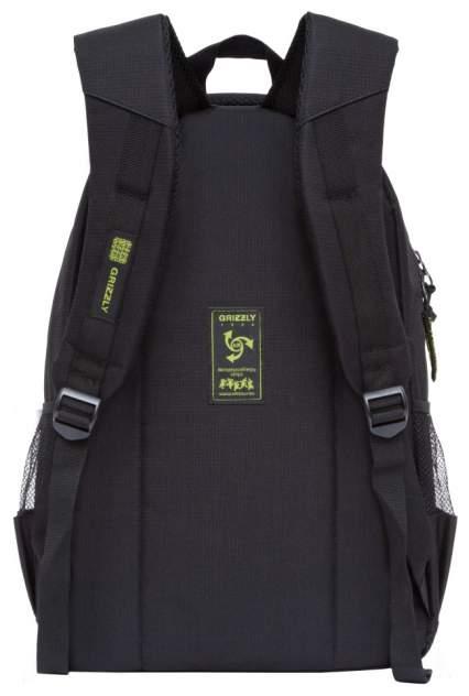 Рюкзак детский Grizzly RU-806-1 черный - салатовый