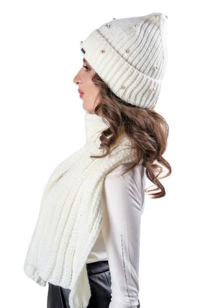 Комплект (шапка+шарф) женский Jagga 1368 белый ONE SIZE
