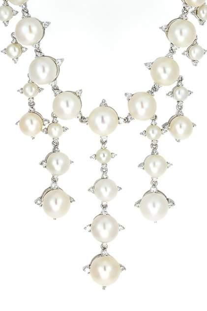 Колье женское серебряное MIROLLA XL1088-2 с жемчугом/цирконием
