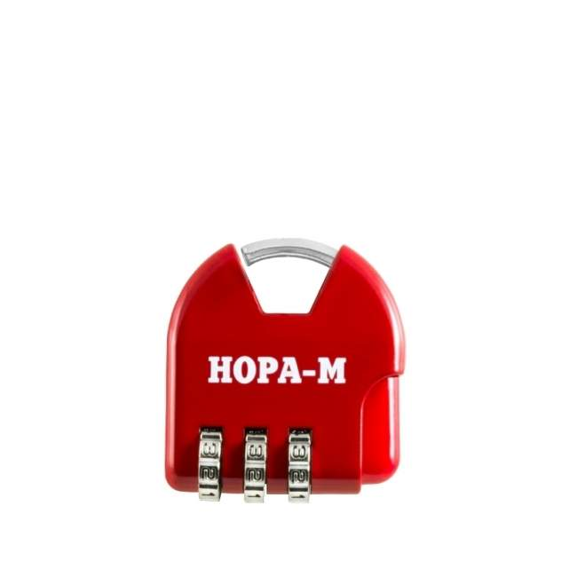 Замок навесной кодовый Нора-М 601 для чемодана - Красный - 35 мм