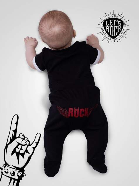 Ползунки детские Amarobaby Rock Baby, р. 56